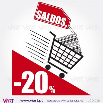 "Shopping Cart ""SALDOS"" - Wall stickers - Window Dressing - Viart -1"