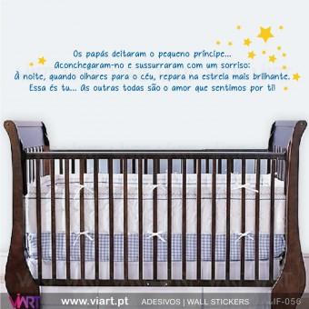 Os papás e o pequeno príncipe! - Vinil Autocolante Decorativo! Decoração quarto Bebé - Viart -1