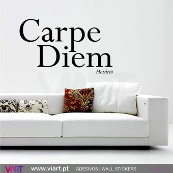 Carpe Diem - Horácio - Vinil Autocolante Decorativo