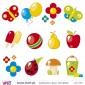 "Kit 12 ""miminhos"":)! Vinil Autocolante Decorativo! Decoração quarto infantil - Viart -2"
