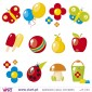 Kit of 12 Charming Wall Stickers - Kids room decoration - Viart -2