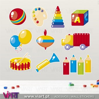 Kit of 10 Charming Wall Stickers - Kids room decoration - Viart -1