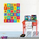 Super colorful ABC. Wall Stickers - Kids room decoration - Viart -1