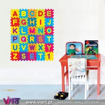 A B C super colorido :) ! Vinil Autocolante Decorativo! Decoração quarto infantil - Viart -1