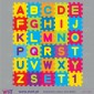 Super colorful ABC. Wall Stickers - Kids room decoration - Viart -3