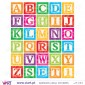ABC squares - Wall Stickers - Kids room decoration - Viart -2
