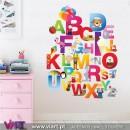 ABC - Aprender é divertido! Vinis Autocolantes Decorativos! Decoração quarto infantil - Viart -1