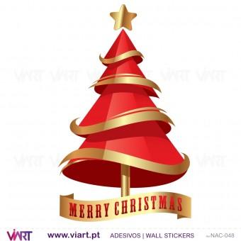 """Árvore de Natal """"Tradicional"""" - Vinil Autocolante Decorativo! Decoração Natal - Viart -2"""