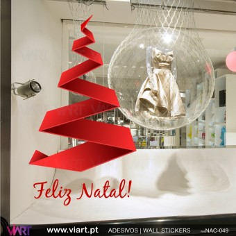 "Árvore de Natal ""Moderna"". Vinil Autocolante Decorativo"