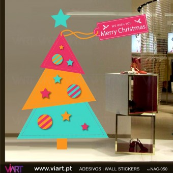 "Árvore de Natal ""Sweet"". Vinil Autocolante Decorativo"