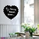 Heart with Heart Blackboard - Chalkboard - Wall stickers - Wall Art - Viart -1