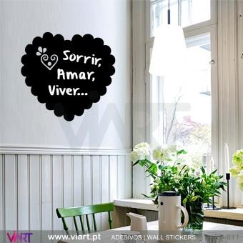 Coração Português - Vinil Ardósia Decorativo