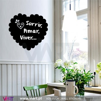 Heart with Heart Blackboard - Wall Sticker