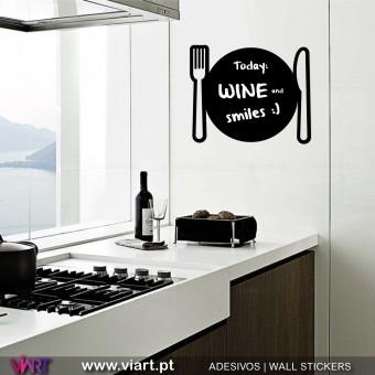 Bom apetite! Ardósia - Vinil Autocolante Decorativo! Decoração Parede - Viart -1