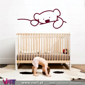 Cute Teddy bear. Wall stickers - Baby room decoration - Viart -1