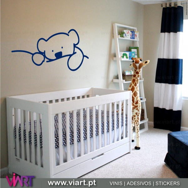 Cute Teddy Bear Wall Stickers Baby Room Decoration Viart 2