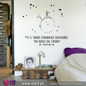 """Tu te tornas......"" Saint-Exupéry - Wall Sticker"