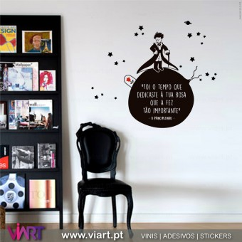 """Foi o tempo…a tua rosa..."" The Little Prince - Saint-Exupéry - Wall stickers - Decal - Viart -1"