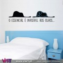 O essencial é invisível aos olhos...  The Little Prince - Saint-Exupéry - Wall stickers - Decal - Viart -1