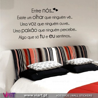 """Entre nós..."" Wall Sticker - Wall Decal - Viart 3 5"
