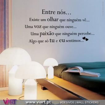 """Entre nós..."" 2 - Vinis Autocolantes Decorativos de Parede! Viart -1"
