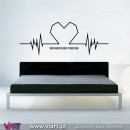 Beating Heart. Wall Stickers. Decal Art - Viart -A