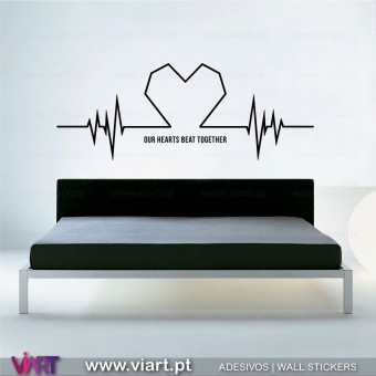 Beating heart with message! Wall Sticker