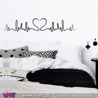 Bate coração! Vinil Autocolante Decorativo! Decoração de parede - Viart A