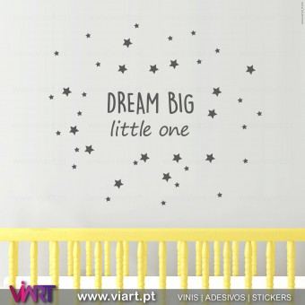 DREAM BIG little one - Vinis Autocolantes Decorativos de Parede! Viart -1