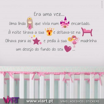 Era uma vez...  Uma linda Princesa... Wall stickers - Decal - Viart - A