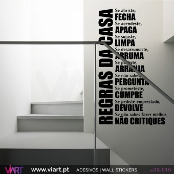 Regras da casa! Wall stickers - Vinyl decoration - Viart -1