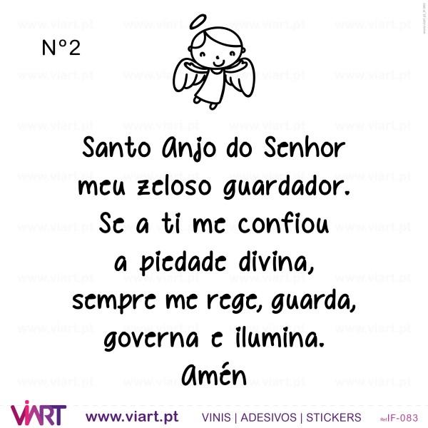 Oracao Santo Anjo Do Senhor Wall Stickers Viart