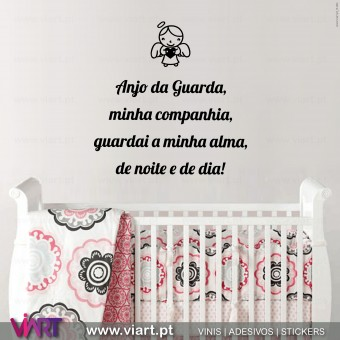 Oração Anjo da Guarda... Wall stickers - Decal - Viart - 1
