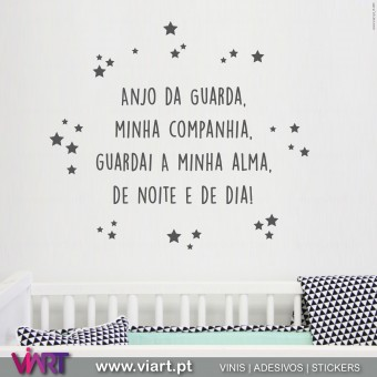 Oração Anjo da Guarda... Version 2 -  Wall stickers - Decal - Viart - A