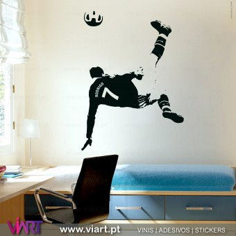 Football player with personalizable shirt. Wall Sticker