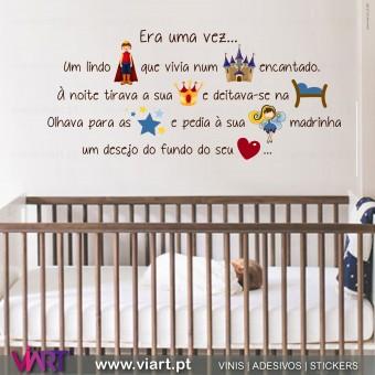Era uma vez... Um lindo Príncipe... Wall stickers - Decal - Viart - A