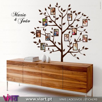 Árvore da Família para Fotografias - Vinis Autocolantes Decorativos de Parede! Viart - A