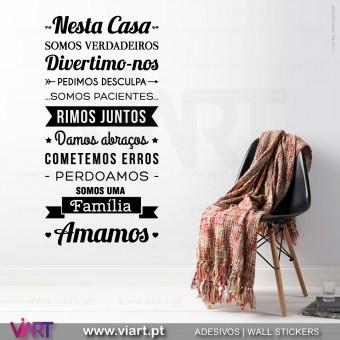 """Nesta Casa - Amamos"" Vinil Decorativo Parede! Viart -1"
