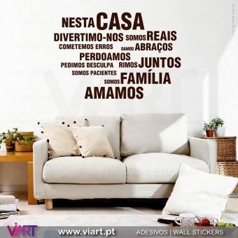 """""""Nesta Casa"""" 4 - Vinil Decorativo Parede! Autocolante para parede - Viart -1"""