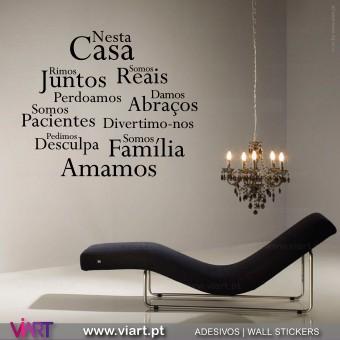"""""""Nesta Casa"""" 5 - Vinil Decorativo Parede! Autocolante para parede - Viart -1"""