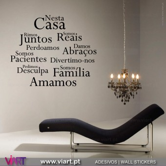 """Nesta Casa"" Cloud 2 Wall Sticker"