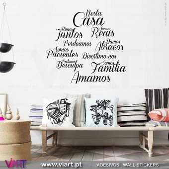 """Nesta Casa"" Cloud 3 Wall Sticker"