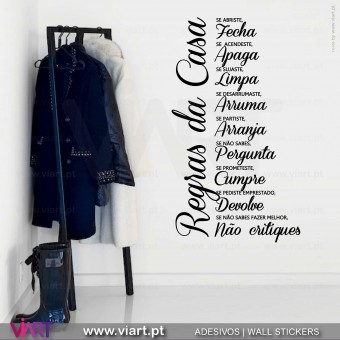 """Regras da Casa"" 2 - Wall sticker - Decal - Viart -1"