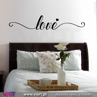Love, Love! Vinil Decorativo Parede! Autocolante para parede - Viart - 1