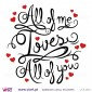 All of me Loves All of you! Vinil Decorativo Parede! Autocolante para parede - Viart - 2