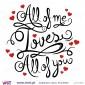 All of me Loves All of you! Vinil Decorativo Parede! Autocolante para parede - Viart - 2