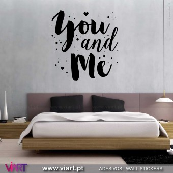 You and Me! Vinil Decorativo Parede! Autocolante para parede - Viart - 1