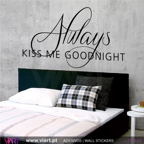 always kiss me goodnight 2 - wall stickers - vinyl decoration - viart