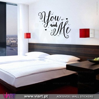 You and Me! 2 Vinil Decorativo Parede! Autocolante para parede - Viart - 1