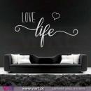 LOVE life! Vinil Decorativo Parede! Autocolante para parede - Viart - 1